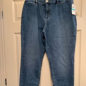NEW Style & Co Curvy Skinny Leg Jeans 16 Pic Color